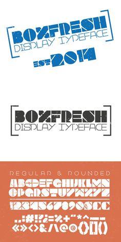 Boxfresh Regular + Rounded. Display Fonts. $12.00