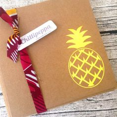 5 Gold pineapple wedding invitations Gold pineapple by ChilliPeppa