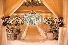 Winter Wedding Ceremonies, Wedding Altars, Wedding Chapels, Elegant Winter Wedding, Glamorous Wedding Flowers, Classy Wedding Ideas, Wedding Ceremony Decorations, Ballroom Wedding Reception, Wedding Themes