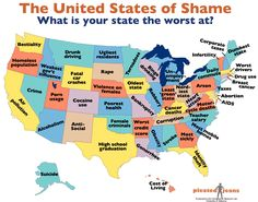 The best worst U.S. map ever -- Map of the thing at which your state is worst.