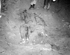 """Remains of the 3 civil rights workers shot to death & buried underneath an earthen dam near Philadelphia, Mississippi during """"Freedom Summer"""", 1964. Andrew Goodman was a 20-year-old white Jewish anthropology student from New York; James Chaney was a 24 year old activist from Meridian, Mississippi and Michael Schwerner, a 24-year-old white Jewish CORE organizer and former social worker also from New York, they dedicated and lost their lives working for voter education and registration."""