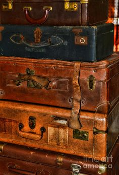 Travel - Old Bags Photograph  - Travel - Old Bags Fine Art Print