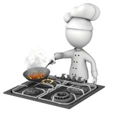 Illustrations Discover Stirring Up The Pot - Animated Clipart for PowerPoint ID# 16208 - Chef Cooking With Pan - PowerPoint Animation Animated Clipart, Animated Emoticons, Animated Icons, Emoji Images, Emoji Pictures, Letra Drop Cap, Powerpoint Animation, Cartoon Chicken, 3d Human