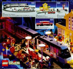 LEGO Train 1992 set Awesome Lego, Cool Lego, Lego Books, Lego Trains, Vintage Lego, Lego Stuff, Classic Toys, Lego City, Legos