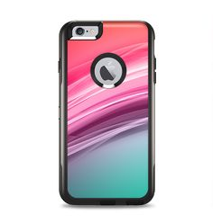 22871a12ca251e The Red to Green Electric Wave Apple iPhone 6 Plus Otterbox Commuter Case  Skin Set