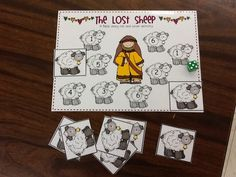 Roll and cover game for parable of lost sheep. Good for younger children, but any age might enjoy - especially if each had an individual board kind of like Bingo. Sunday School Games, Sunday School Lessons, Sunday School Crafts, Bible Games, Bible Activities, Children's Bible, Bible Parables, Bible Resources, Learning Activities