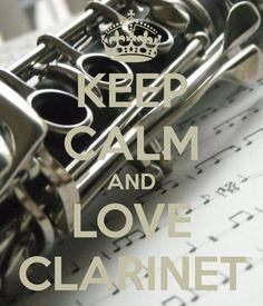 Keep calm and love clarinet.