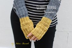 Ravelry: Global Nomad Handwarmers pattern by Helen Stewart of Curious Handmade Paintbox Yarn, Knitting Accessories, Knitting Socks, Hand Warmers, Mittens, Ravelry, Free Pattern, Knitwear, Knitting Patterns