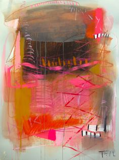 """""""Pink Ribbon"""" by Teil Duncan. Abstract Expressionism, Abstract Art, Modern Art, Contemporary Art, New Art, Painting & Drawing, Amazing Art, Paper Art, Art Photography"""