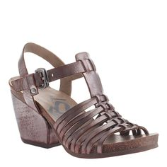 """Take a walk around the world and roar like Leon. Dressy meets comfort again, thank you OTBT. 2.91"""" heel, crafted with genuine leather, manmade lining, rubber so"""