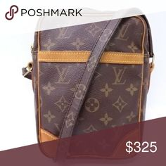 c3721d05117b Louis Vuitton Danube Cross Body Shoulder Bag Outside gt  (Face)  Minor  signs of