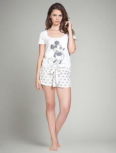 women'secret | Lencería nuevo | Pijama corto de Mickey en algodón