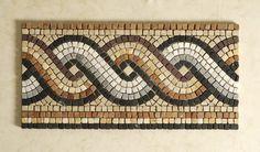 Mosaico Greca in marmo Mosaic Crafts, Mosaic Projects, Mosaic Art, Art Projects, Mosaic Designs, Geometric Designs, Free Mosaic Patterns, Mosaic Furniture, Paving Design