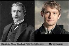 Time-Traveling #Celebs - Nobel Prize Winner Elihu Root Totally Looks Like Martin Freeman