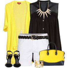 """""""Black and yellow"""" by cindycook10 on Polyvore"""
