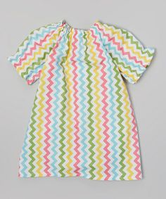 Love this Yellow & Blue Zigzag Dress - Infant, Toddler & Girls on #zulily! #zulilyfinds