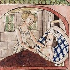 Medieval Crafts, Medieval Dress, 15th Century, Blue Plaid, Middle Ages, Hats For Men, Linen Bedding, Renaissance, Beds
