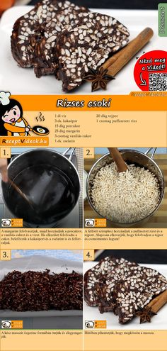Fancy a sweet dessert with chocolate? Try rice chocolate! The rice chocolate recipe video is easy to find using the QR code :) # Biscuits Fancy a sweet dessert with cho Sweet Recipes, Cake Recipes, Snack Recipes, Dessert Recipes, Snacks, Mini Chocolate Chips, Chocolate Recipes, Tasty, Yummy Food