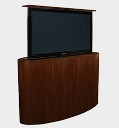 Discover the best in TV lift furniture & outstanding TV cabinet design with Cabinet Tronix. Tv Cabinet Design, Cabinet Space, Cabinet Furniture, Home Furniture, Hidden Tv Cabinet, Tv Beds, Modern Family Rooms, Modern Tv, Tv Cabinets