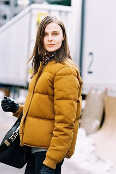 Proof that you CAN look chic in your puffer coat