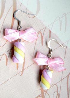 Boucles d'oreilles Guimauves  - boucle d oreille percée - Bijoux Oh la la Mademoiselle - Fait Maison