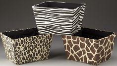 Animal Print Design Container