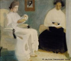 Girls Reading Helene Schjerfbeck (Finnish, Watercolor, gouache and pencil on paper. From about 1902 Schjerfbeck's delicate health began to deteriorate; Helene Schjerfbeck, Reading Art, Girl Reading, Reading Books, Helsinki, Gouache, Female Painters, National Gallery, A4 Poster