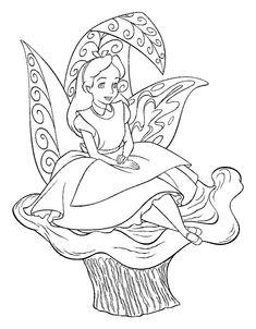 Alice in Wonderland kleurplaten