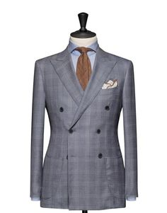 Tailored 2-Piece Suit - Fabric 4604 Glencheck Blue