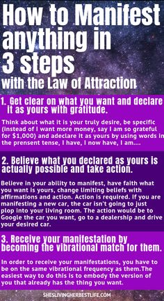 Have you heard of the Law of Attraction before and wondered how it actually works? Learn how to easily manifest anything you want in 3 simple steps. Yes, this is really all it takes. Discover Your True Self With A Free Personalized Archetype Reading Manifestation Journal, Manifestation Law Of Attraction, Law Of Attraction Affirmations, Secret Law Of Attraction, Law Of Attraction Quotes, Reiki, Neville Goddard, Money Affirmations, Positive Affirmations For Success