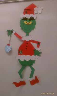 "We had a ""Grinch Day"" and we got to make our very own Grinch! My student's LOVED it. Thank you Glyph Girls for such a FABULOUS 