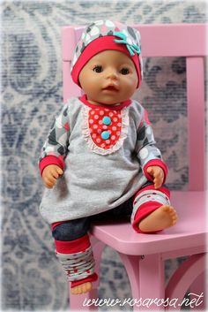 Baby Clothing Freebook doll love balloon tunic Feli with hood size 36 and (Diy Baby Doll) Baby Clothing Source : Freebook Puppenliebe Ballontunika Feli mit Kapuze Gr 36 und 43 ? Knitting For Charity, Knitting For Kids, Sewing For Kids, Baby Sewing, Teddy Bear Knitting Pattern, Baby Knitting Patterns, Crochet Patterns, Baby Doll Clothes, Doll Clothes Patterns