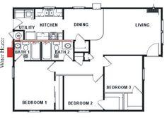 atlas Water heaters Gas On Demand Kitchen Dining Living, Water Heaters, Floor Plans, Bath, Kitchen Dining, Bathing, Bathroom, Bathtub, Floor Plan Drawing