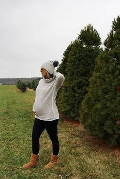 cozy winter sweaters // winter fashion // mama style // bump style // pregnancy