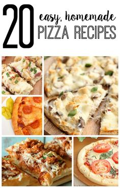 20 easy, homemade pizza recipes from SixSistersStuff.com