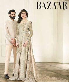 Pakistani couture. Faraz Manan. Sadaf Kanwal