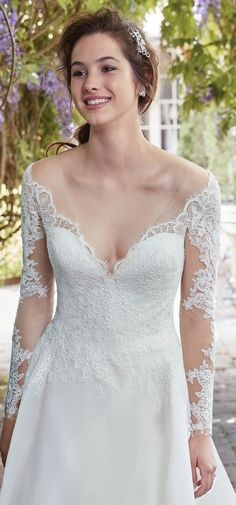 """More """"Second Looks"""" for Your Ceremony and Reception - Thera wedding dress by Rebecca Ingram"""