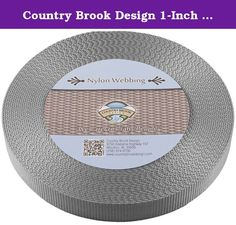 Country Brook Design 1-Inch Heavy Nylon Webbing, 50-Yard, Silver. Product description: nylon webbing is a heavy-weight material and is stronger than polypropylene webbing. Nylon has a soft, lustrous feel. In addition, it is easy to care for as it is machine washable. (We recommend you only dry it on low heat.)there Is no limit to the possible uses of this soft but sturdy webbing. It is used to provide safety and resilience in a wide variety of applications. Country brook design nylon…