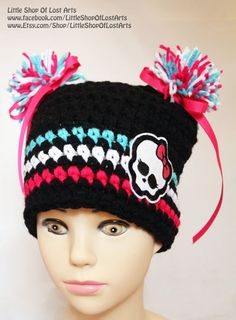Double threaded thick crochet hat with by LittleShopOfLostArts, $22.00