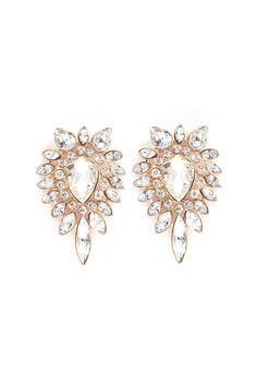 Libby Chandelier Earrings in Gold on Emma Stine Limited