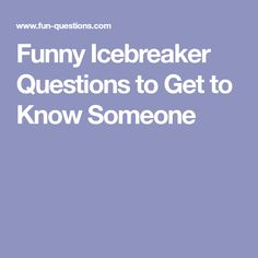 icebreaker questions for online dating