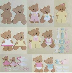 Brown bear and clothes Metal Cutting Dies Stencils for DIY Scrapbook Photo Album Paper Card Decorative Craft Embossing Die New-in Cutting Dies from Home & Garden on AliExpress Scrapbooking Diy, Album Photo Scrapbooking, Scrapbook Paper Crafts, Diy Scrapbook, Scrapbook Albums, Album Photo Papier, Album Diy, 2 Baby, Cute Monkey