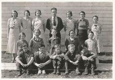 Grandpa Everett grade school (front row second from left) - Southwick, ID
