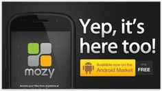 The Mozy Android app