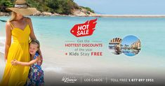 Enjoy sizzling vacation deals when you book your stay at Villa La Estancia Los Cabos during our Hot Sale. Vacation Deals, Resort Spa, Beach Resorts, Villa, Book, Kids, Free, Toddlers, Boys