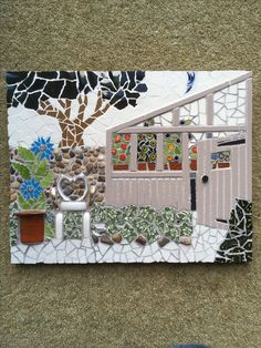 Grandma's greenhouse. Sharon