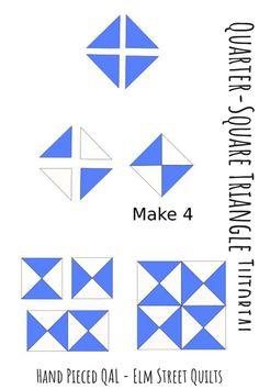Hand Pieced QAL: Quarter Square Triangles