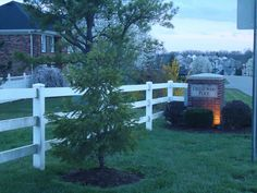 Entrance to Cherrywood Place Subdivision