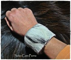 ° MITJORN No. 3° Klack-Armband Leder Fell Ziege von °  Solo-Con-Perro ° auf DaWanda.com