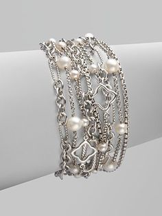 Varied Link Mulit-Row Bracelet- what a beauty!